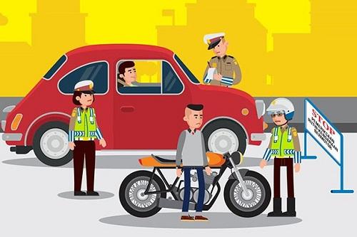 Razia Polisi Kendaraan Bermotor