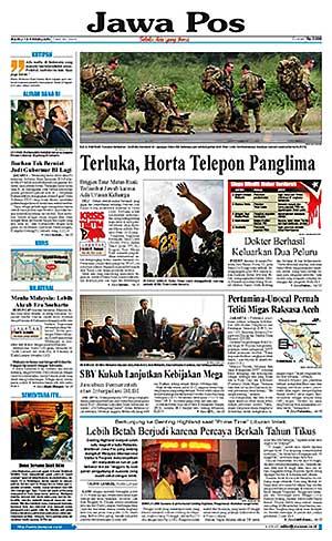 Jawa Pos sisihkan koran besar di dunia