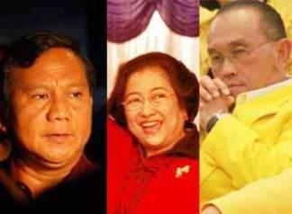 Megawati, Prabowo, Aburizal Bakrie